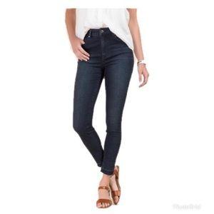 Francesca's Harper High Rise Step Hem Jeans 30 NWT
